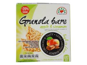 VITALIA 20% Less Sugar Granola Bars Apple & Cinnamon 210g