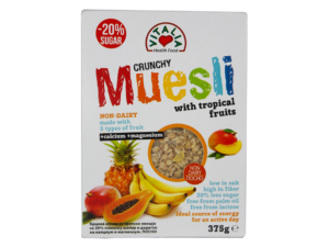 VITALIA 20% Less Sugar Crunchy Muesli w/Tropical Fruits 375g