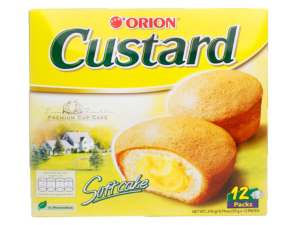 ORION Custard Softcake 12 Packs 9.74oz