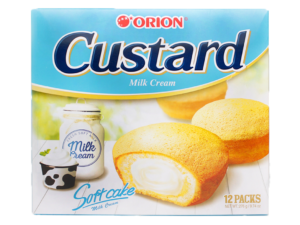 ORION Custard Milk Cream 12 packs 9.74oz