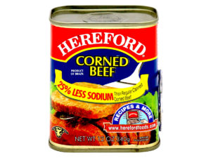 HEREFORD Corned Beef Less Sodium 12oz