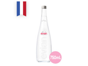 EVIAN Natural Mineral Water – Aramis (Glass) 750ml