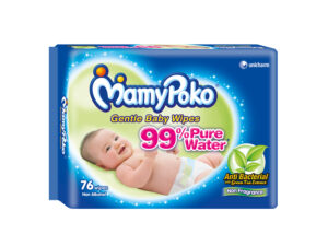 MAMY POKO Baby Wipes Anti Bac Fragrance Free 76 Pulls