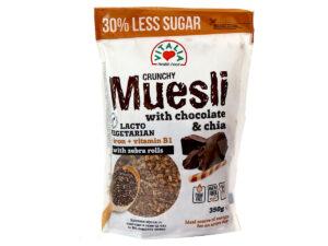 VITALIA 20% Less Sugar Crunchy Muesli w/Chocolate & Chia 350g